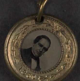 1860 Presidential Campaign button   Lincoln