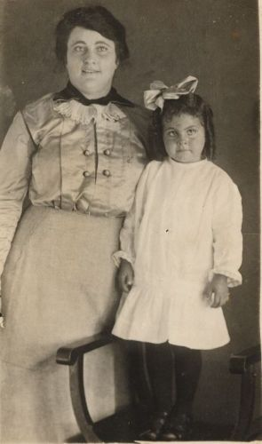 Mrs Singleton and daughter Ethel