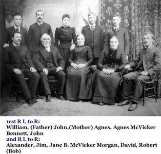 Alexander Edgar McVicker family