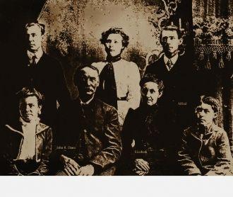 John R & Elizabeth (Moore) Dann family