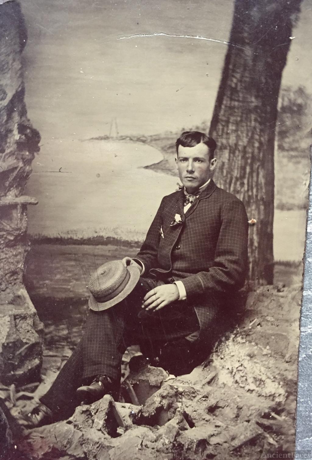 Unknown Tintype man
