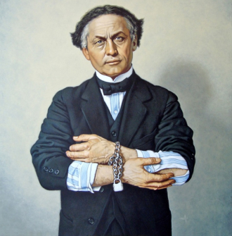 A photo of Harry Houdini