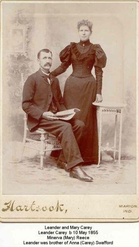 Leander & Minerva Mary(Reece) Carey