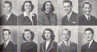 Bob Meek and San Mateo High School seniors