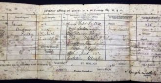 James Andrew Reilly birth record