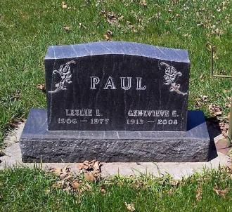 Genevieve and Leslie Paul Gravesite