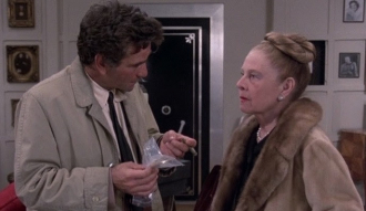 Peter Falk and Ruth Gordon as a mystery writer.