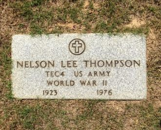 Nelson Lee Thompson Headstone, Texas