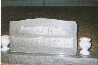 Andrew H Kahn and wife Carolina Koehn