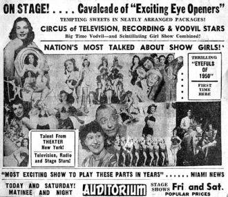 1950's Vaudeville Ad