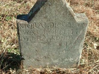 Moral Dickerson's headstone