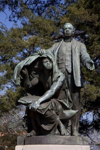 """Statue of Booker T. Washington """"Lifting the Veil of..."""
