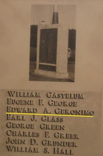 Edward Di Geronimo memorial