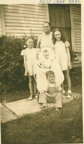 Four Tanksley Children With Their Grandmother Neal
