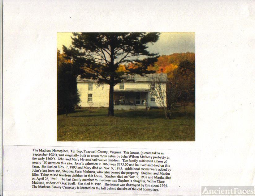 JOHN WILSON MATHENY HOME
