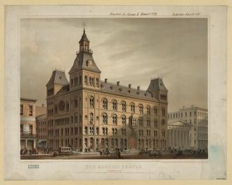 The Masonic Temple, Cincinnati, Ohio / lithographed &...