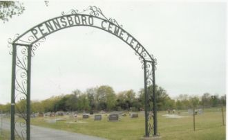 The Archway to the Entrance of the Pennsboro Cemetery, Pennsboro, Dade Co, Missouri