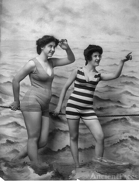 Women in bathing suits