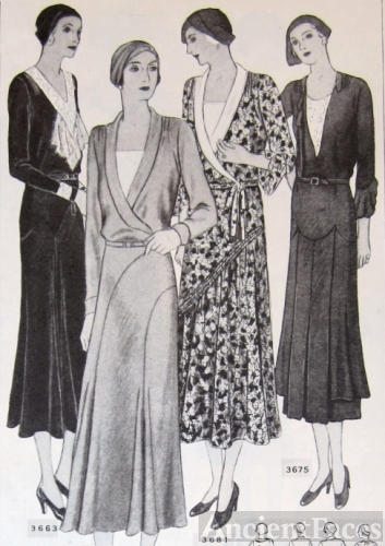 Butterick patterns for 1930's dresses
