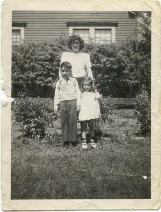 Claire Arnett Bianco and her two children