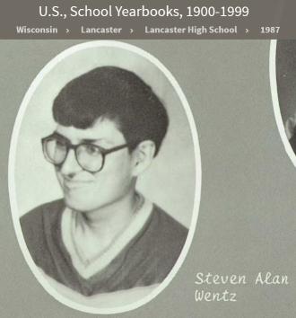 Steven Alan Wentz--U.S., School Yearbooks, 1900-1999(1987)senior