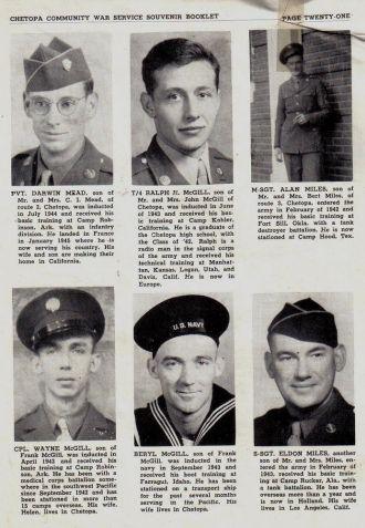 ted stafford's Army Book Kansas - M surnames