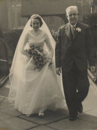 Brenda and Walter Brewer, 1955 England