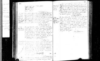 Birth Record of Joseph Oscar Cleophas Genereux