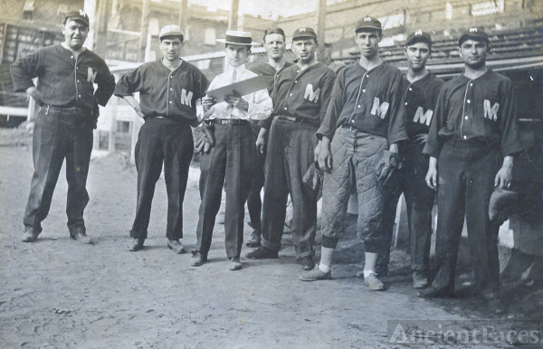 Baseball Team & Babe Ruth, New Jersey