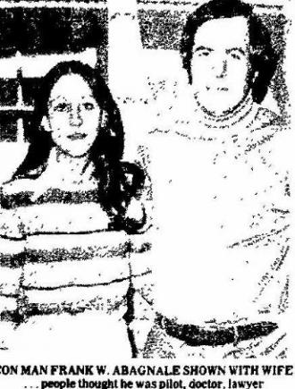 Frank & Kelly Abagnale  - The News Port Arthur newspaper 1977