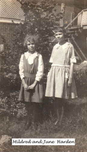 Mildred and June Harden