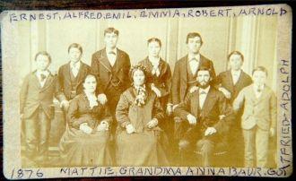 Abraham & Anna (Streit) Baur Family, OH
