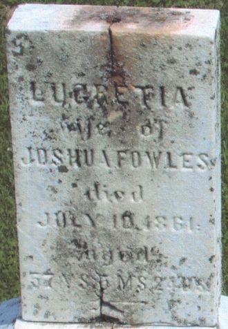 Lucretia Nicholls gravesite