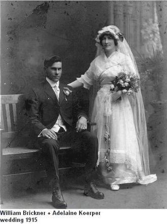 Wedding of William Brickner to Adelaine Koerper