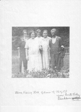 Great Aunts,Phoebe, Rebecca, Polly,Abby, Sylvania