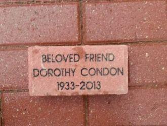 Dorothy Condon Memorial Brick