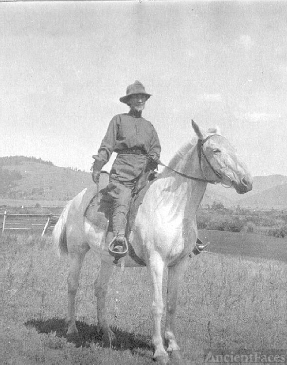 Lettie Adella (Mead) Teed Evans, Montana 1920