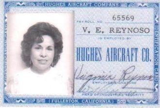 Virginia Espinoza, Hughes Aircraft California