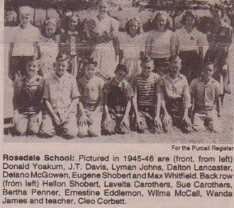 Rosedale, OK, School Class. 1945-46