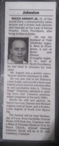 Rocco Argenti Jr. Obituary