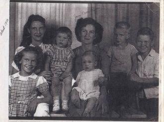 June Ann Moore Pender & children