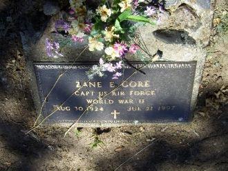Zane Edward Gore Headstone