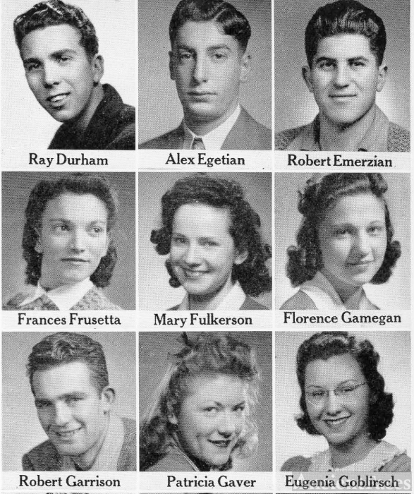 Ray Durham, 1942 Graduating Seniors