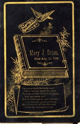 Funeral Card of Mary J.