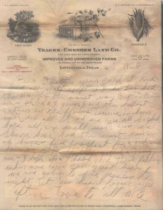 Yeager-Chesher Land Company Letterhead