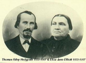 Thomas Riley & Eliza Jane (Elliott) Hedgpeth