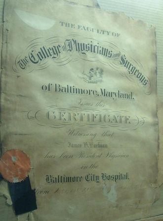 medical residency certificate