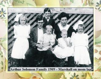 Arthur & Odelia Solomon Family, 1909 Mississippi