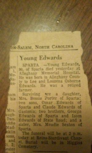 Young Edwards obituary