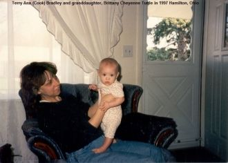Terry Bradley and granddaughter, 1997